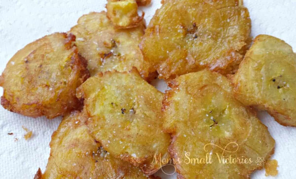 Tostones with Mojo Sauce is a simple and inexpensive side dish that will add a wonderful and tasty Caribbean flair to your meal.