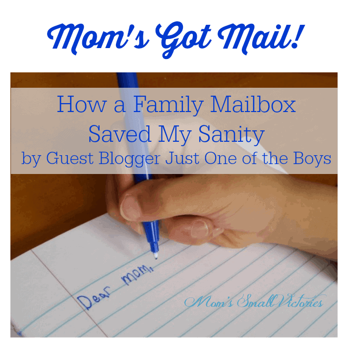 Be Our Guest Fridays {20}: Mom's Got Mail from Just One of the Boys