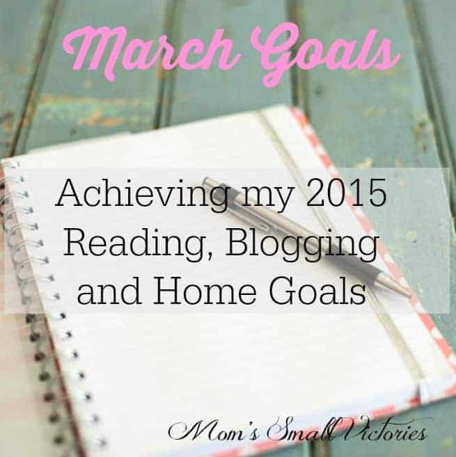 March 2015 Reading, Blogging and Home Goals