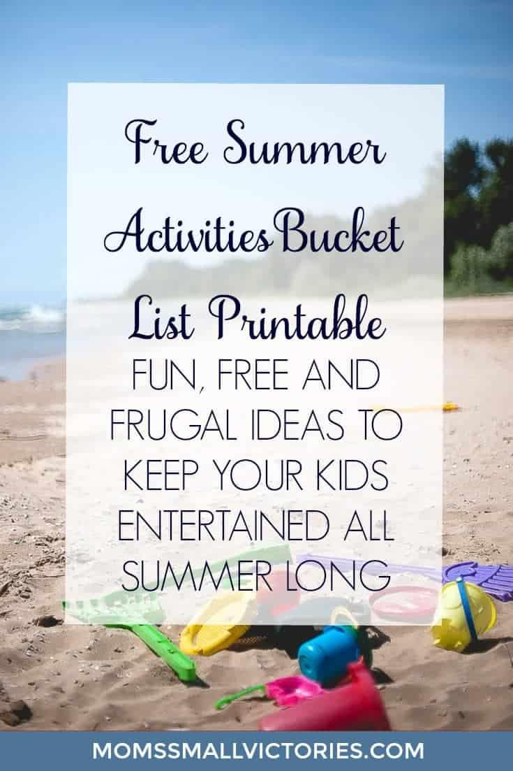 FREE Summer Activities Bucket List Printable