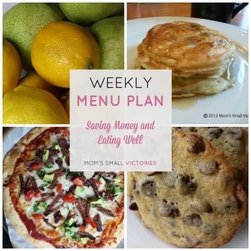Weekly Menu Plan – Oct. 2, 2015