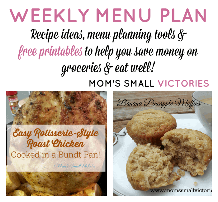 Weekly Menu Plan – Family Favorites and Trying More Gluten & Dairy Free