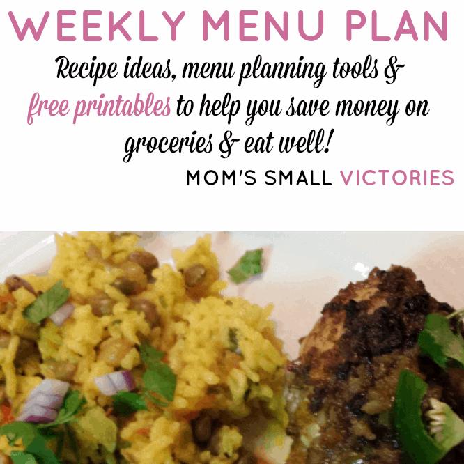 Weekly Menu Plan – Dec. 3, 2015