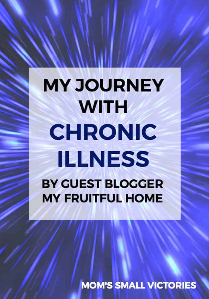 My Journey with Chronic Illness by My Fruitful Home. Tanya shares her loss, the stress and the events that triggered her fibromyalgia and chronic fatigue syndrome. Sharing our stories helps raise awareness for chronic illnesses and helps fellow patients cope and thrive with chronic illness.