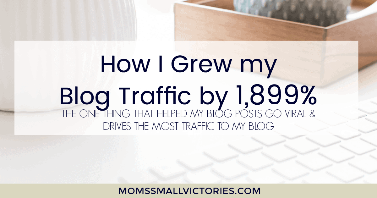 How I Grew My Blog Traffic by 1,899%, the one thing that helped my blog posts go viral and still drives the most reliable traffic to my blog.