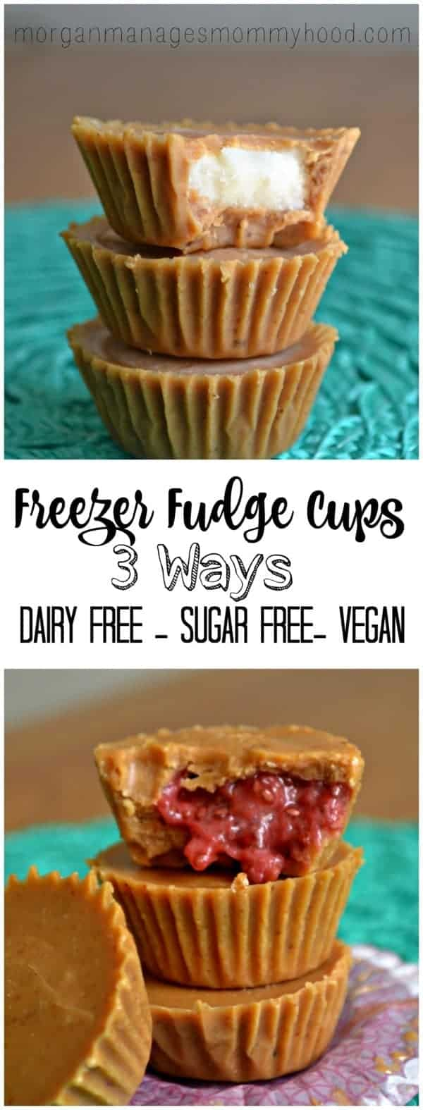 Freezer Fudge cups are Refined Sugar Free and Dairy Free treats you and your kids are sure to love!
