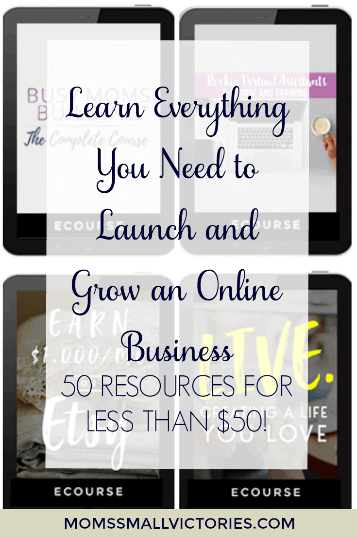 50 Resources for less than $10! Everything you need to learn about launching and growing a profitable online business.