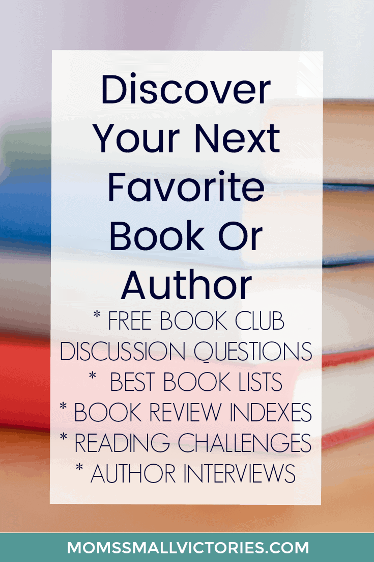 Don't know what to read? Discover your next favorite book or author with my FREE book club discussion questions, favorite book lists, book reviews, reading challenges to unleash your inner bookworm and author interviews and guest posts. Your next favorite book or author is waiting to be discovered!
