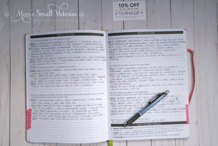 Doing a weekly review in the Passion Planner of how your time was spent and how you can improve upon it next month.