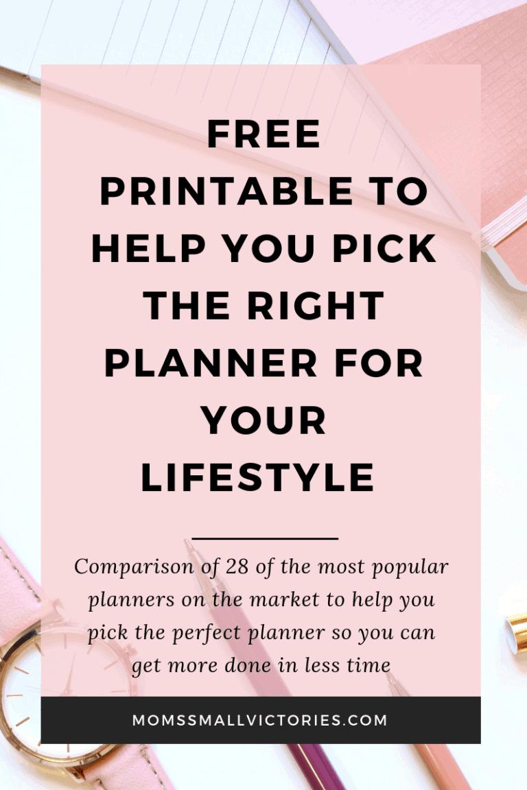Ultimate Planner Comparison + FREE Comparison Chart