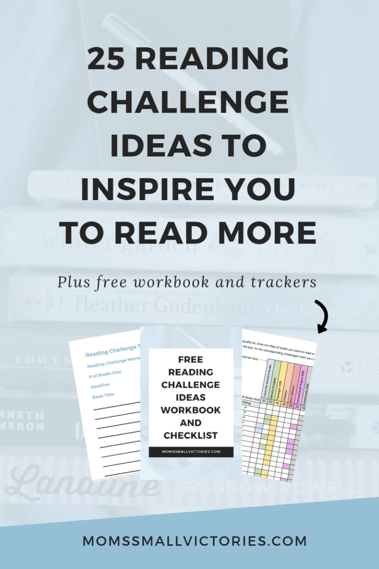 25 Reading Challenge Ideas To Inspire You to Read More + FREE Workbook to Create Your Own Challenge