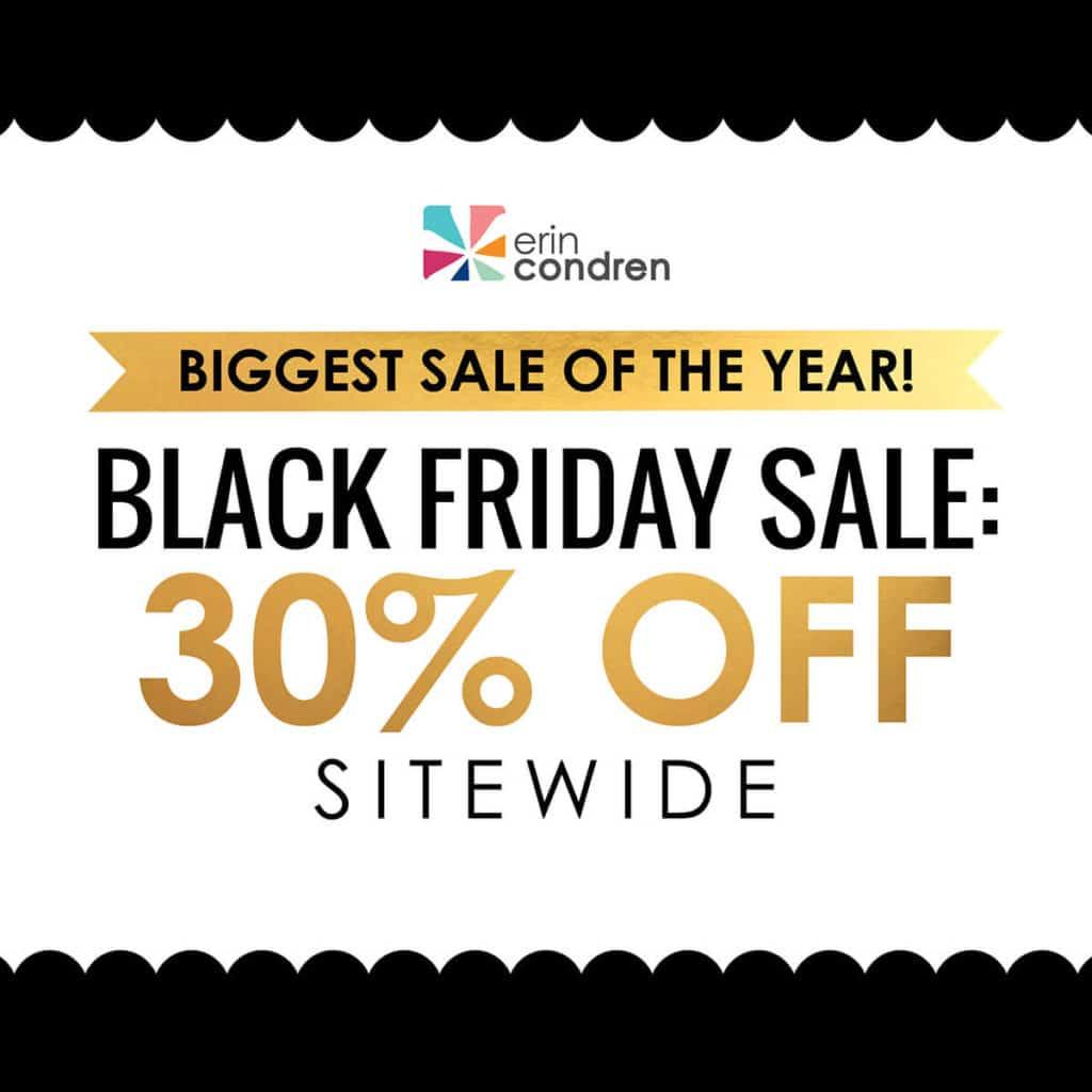Erin condren black friday sale 2018