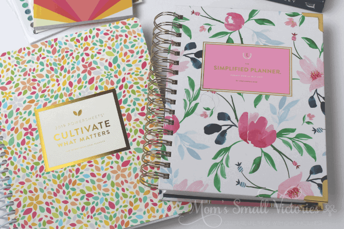 powersheets 2019 and daily simplified planner make a great combination to cultivate your most important goals and schedule them into your day to achieve them