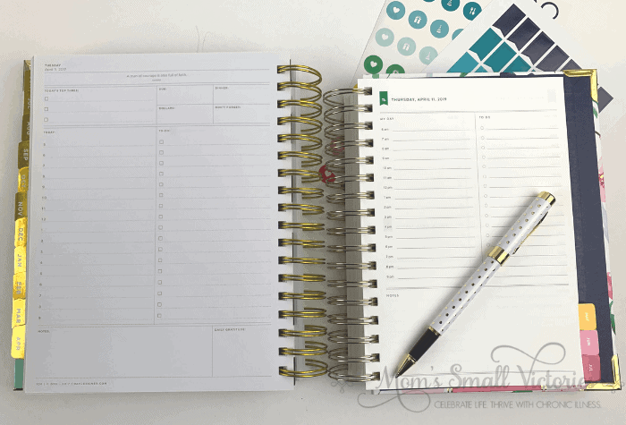 day designer vs simplified planner daily page comparison
