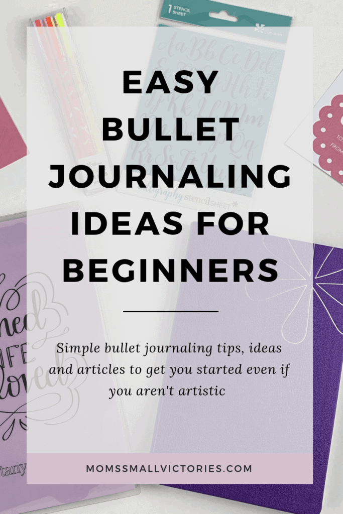 Easy bullet journaling ideas for beginners. Simple bullet journaling tips and tricks, ideas and articles to get you started even if you aren't artistic. See the benefits of bullet journaling and get started so you can get more done in less time and leave more time for fun!