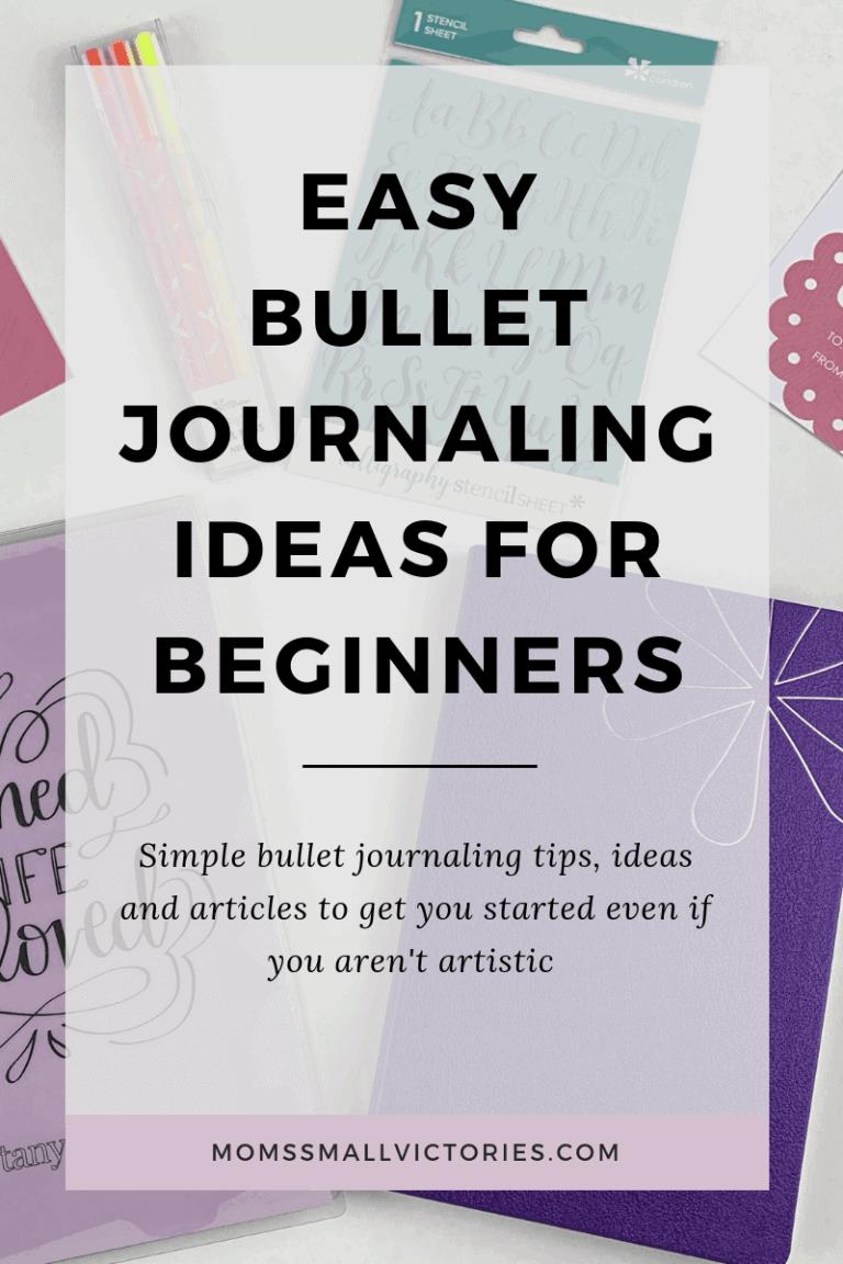 Easy Bullet Journaling Ideas for Beginners
