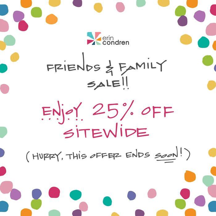 erin condren friends and family sale