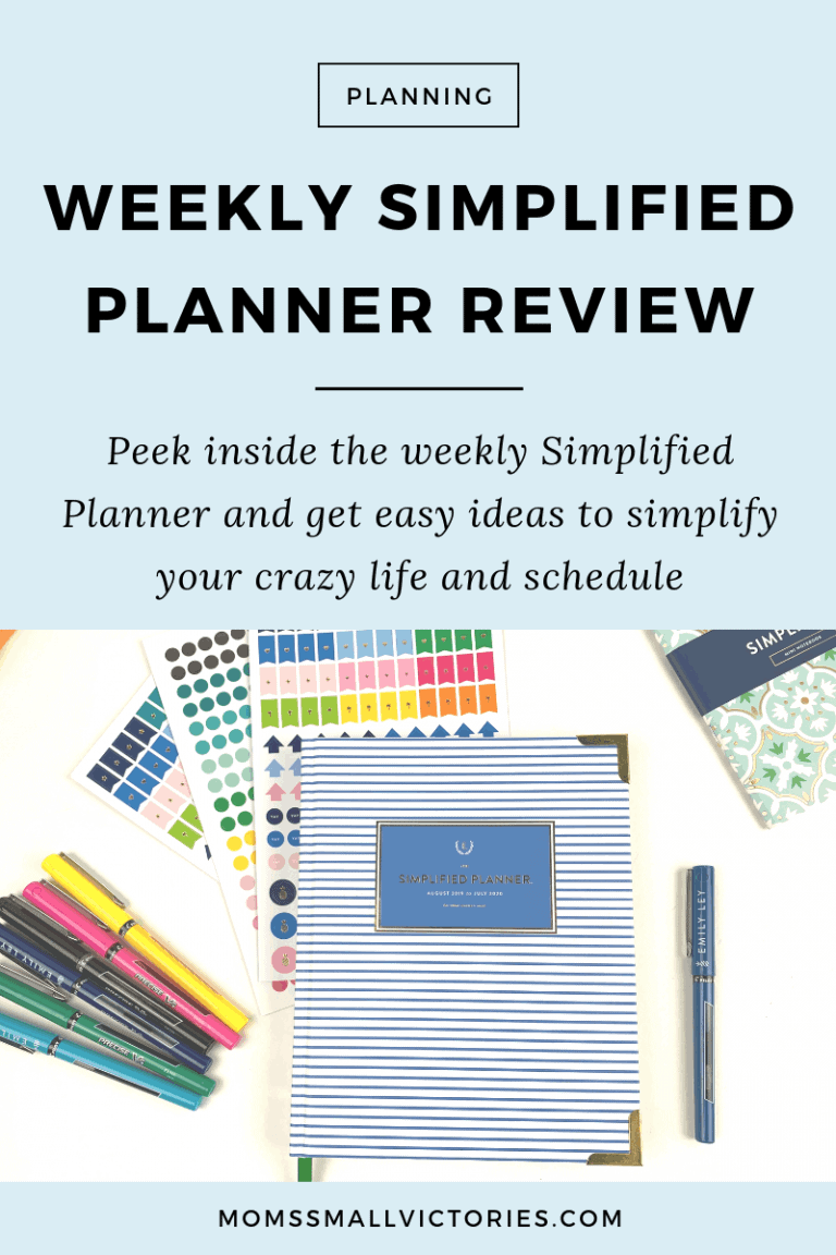 Review of Emily Ley's Weekly Simplified Planner – Simplify Your Life and Schedule