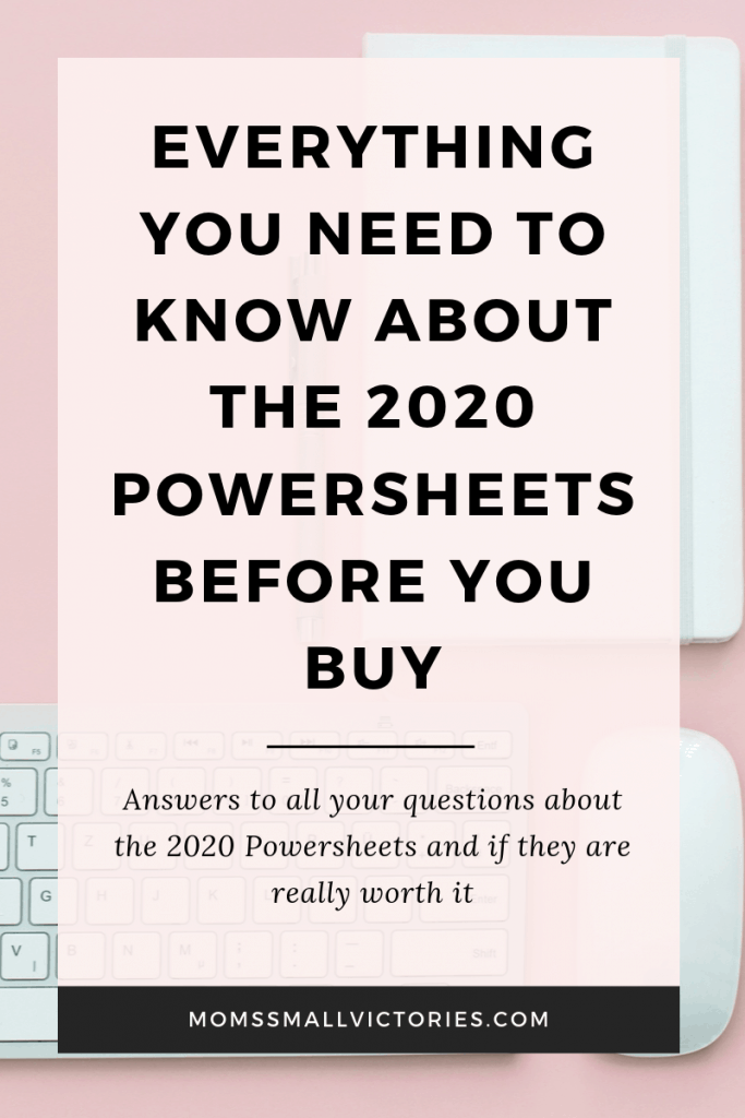 Everything You Need to Know about the 2020 Powersheets Goal Planner Before You Buy. I answer all the most frequently asked questions about the 2020 Powersheets and if they are really worth it. Find out the pros and cons, what's new in 2020, my honest review, best accessories and more in this complete 2020 Powersheets buying guide. A MUST READ before you buy.
