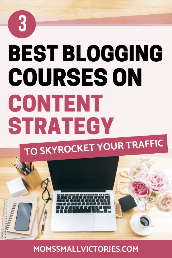 The 3 best blogging courses on content planning, creation and strategy to skyrocket your blog's traffic and income.