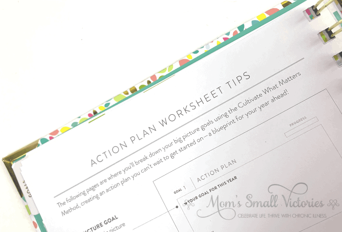 The Powersheets 2020 goals planner has great action plan worksheet tips so you can create your own action plans to achieve your goals.