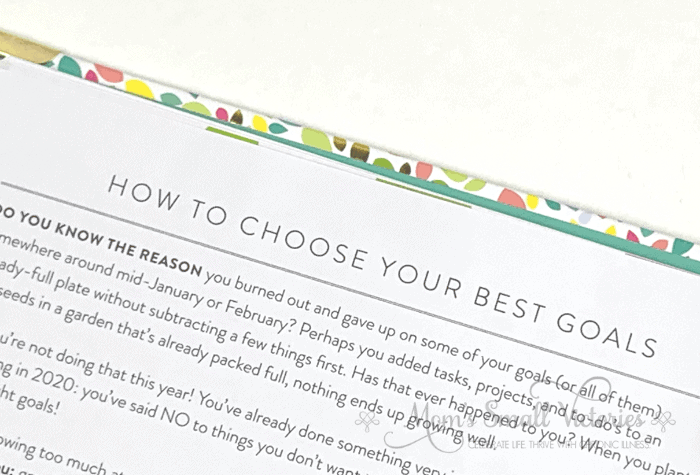 The Powersheets 2020 goals planner guides you through HOW to choose your best goals to focus on this year