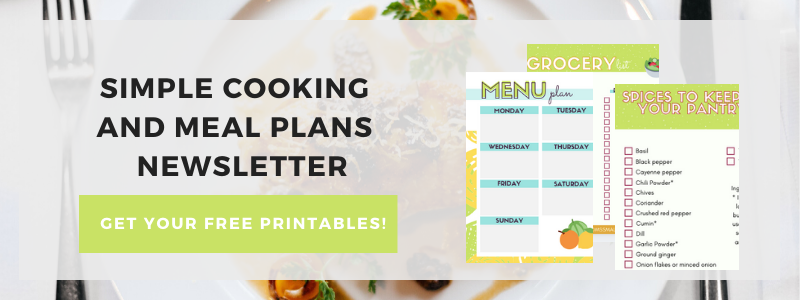 Subscribe to my Simple Cooking with Tanya Newsletter and get my weekly menu plans, cooking tips, printables and motivation to make cooking easier and more fun!