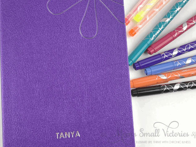 erin condren softbound notebook in shimmer purple. I'm thinking of using this for a decluttering journal so i can journal to improve my home